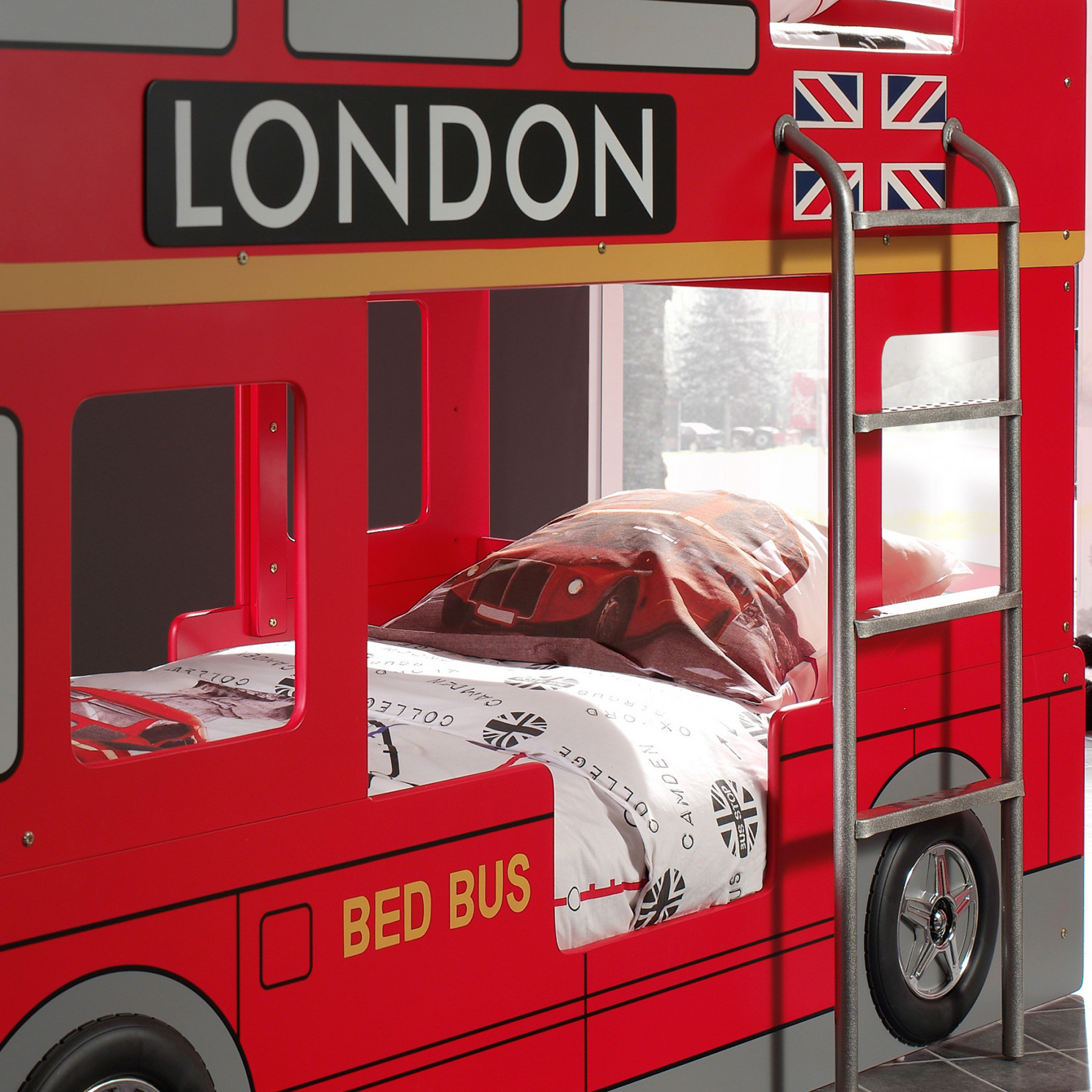 lit superpos london bus 90x200. Black Bedroom Furniture Sets. Home Design Ideas