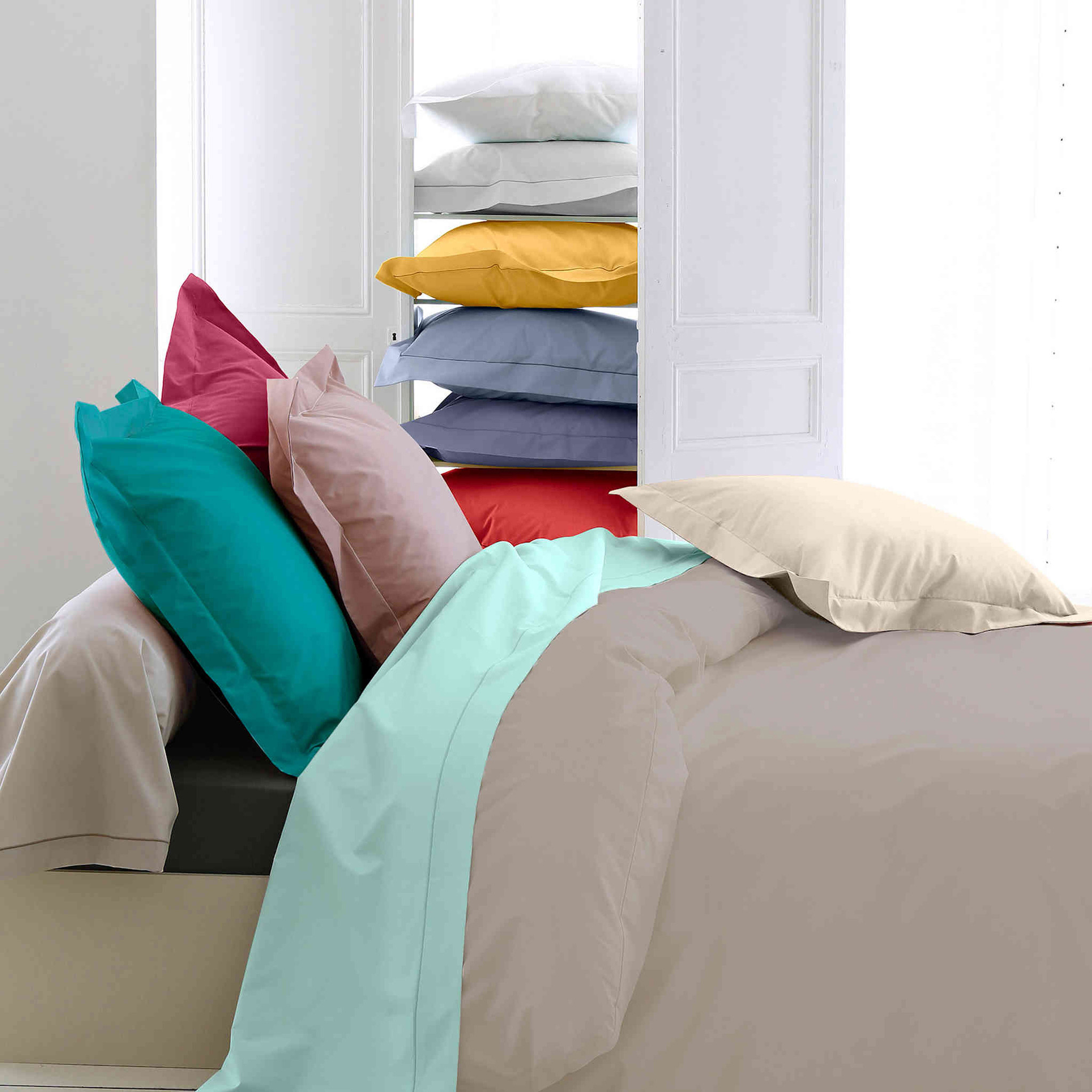 Housse de couette percale lin - Tradilinge