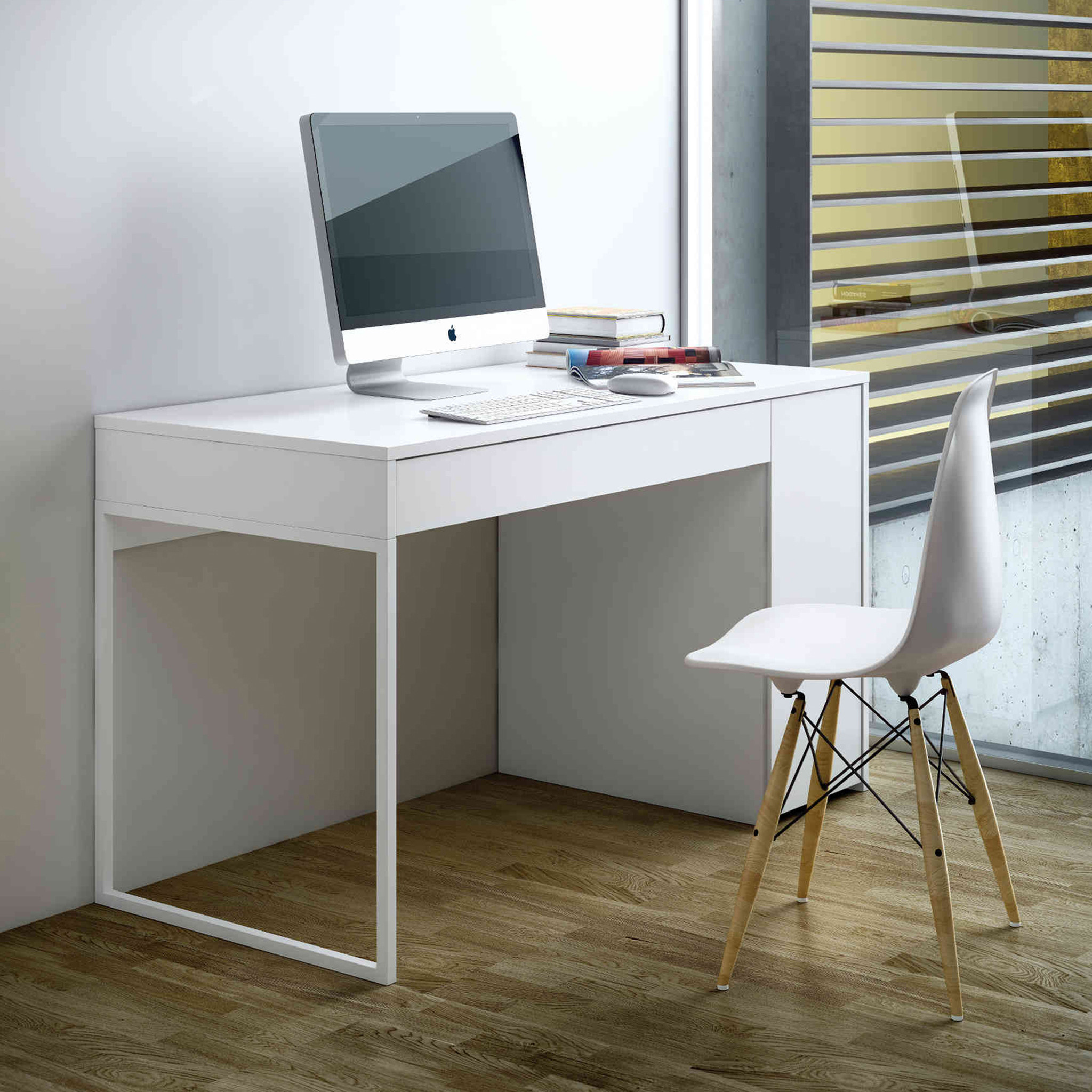Bureau en bois blanc - BU0009