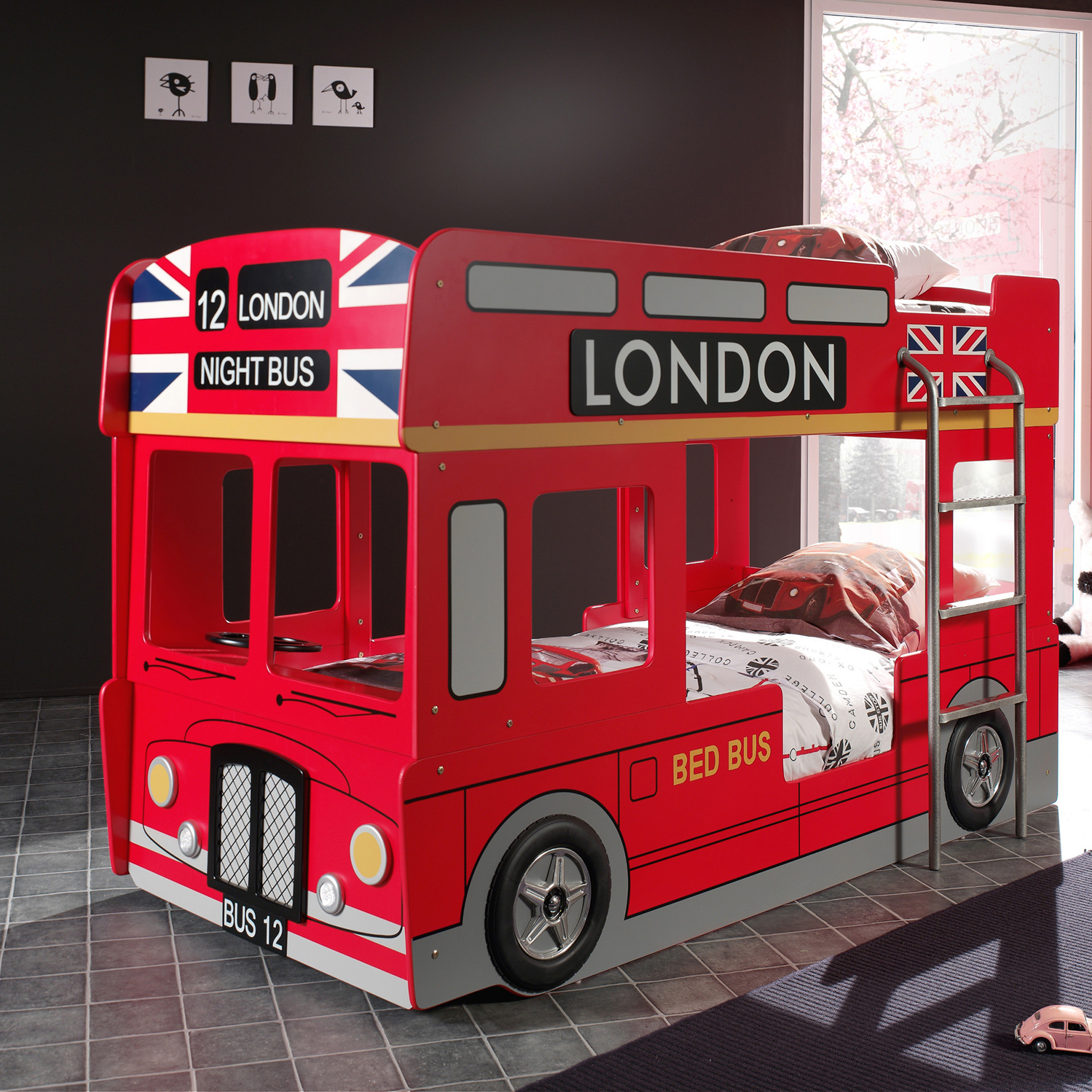 Lit superpos london bus 90x200 - Lit pompier superpose ...