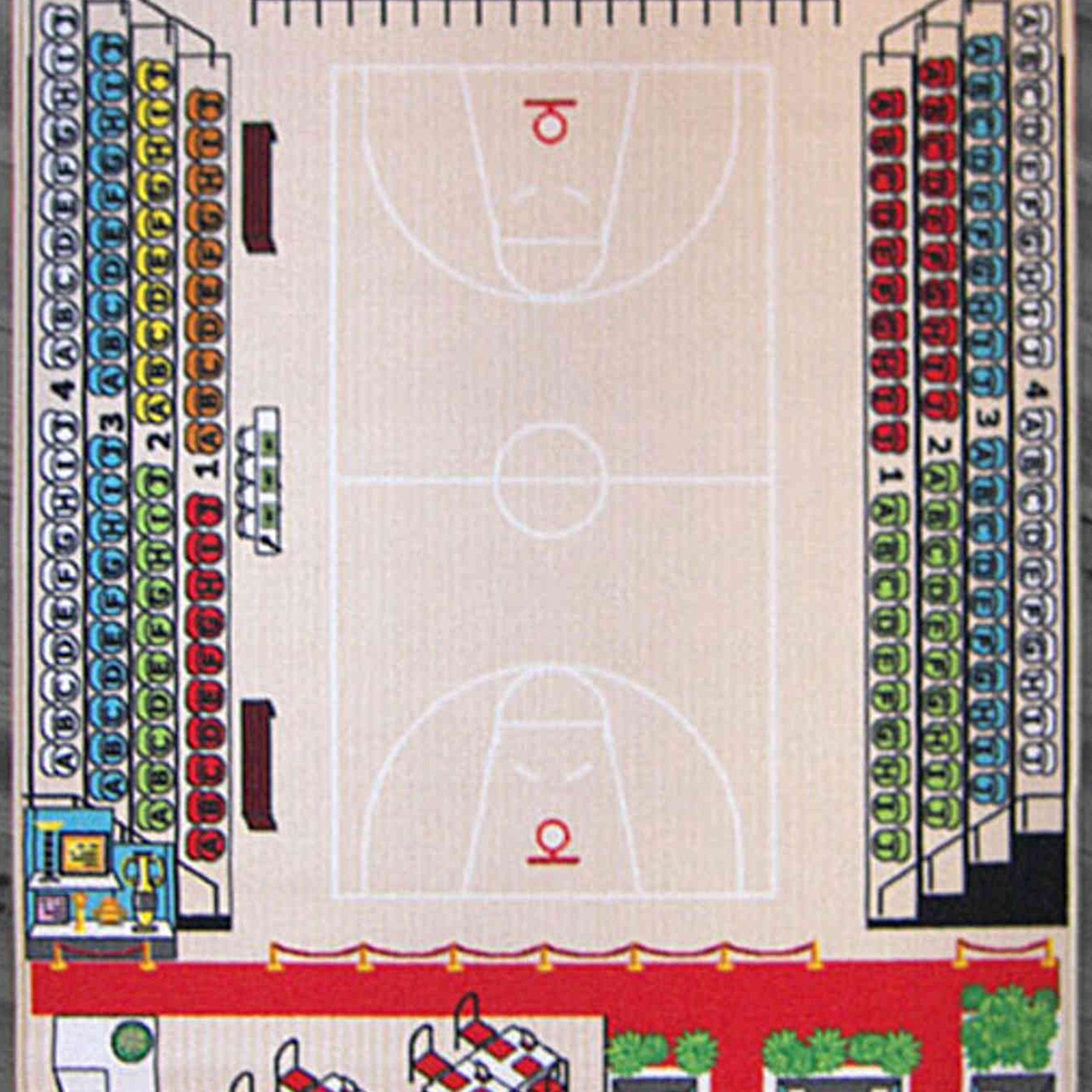 Tapis de jeu enfant basketball 130x200 - TA2005