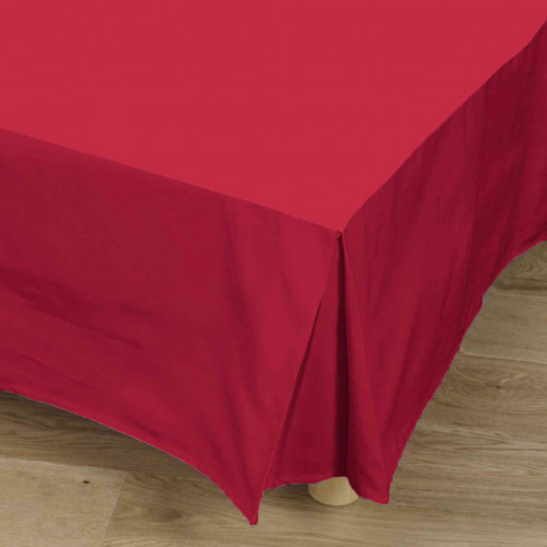 Cache-sommier rouge 100% coton - Tradilinge