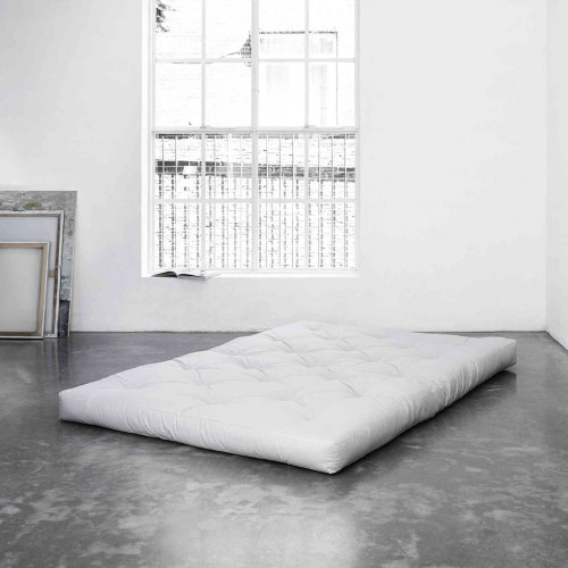 Matelas futon écru 100% coton 180x200
