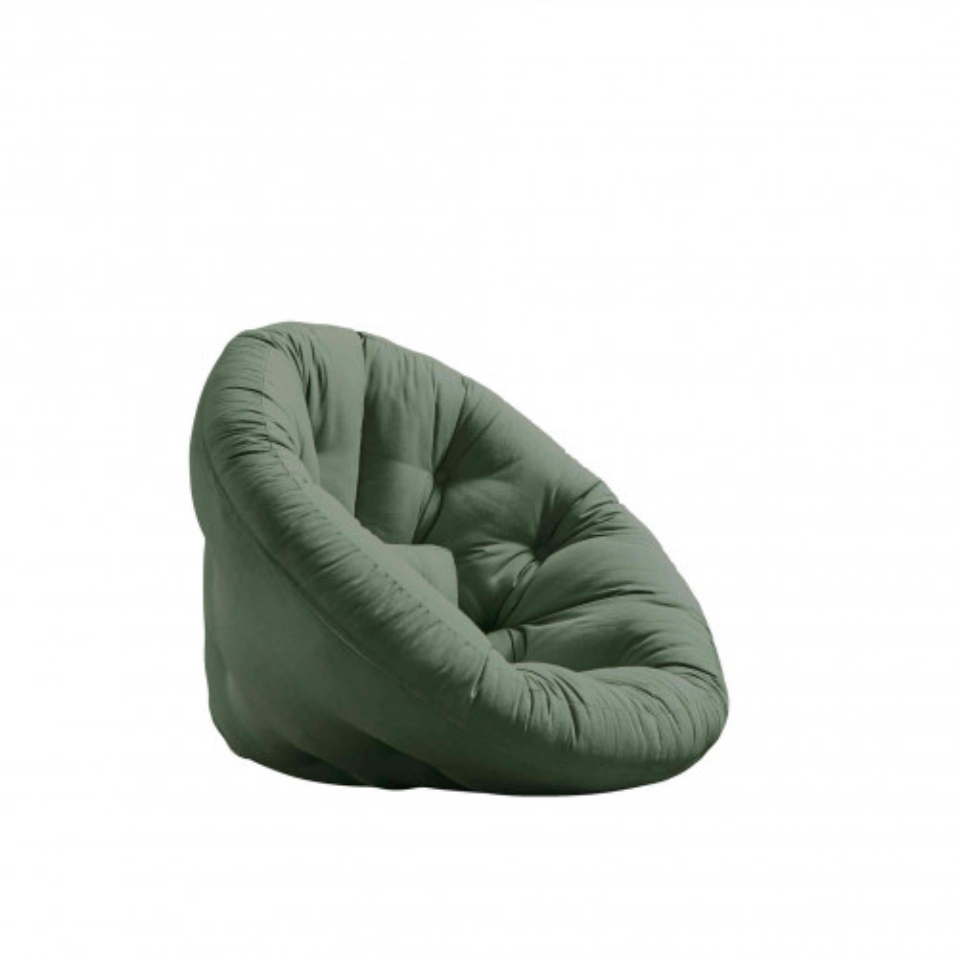 Fauteuil convertible 2 en 1 futon vert olive 90x180