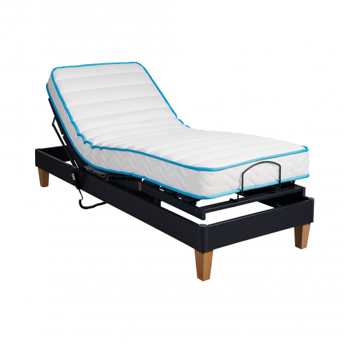 Ensemble relaxation Someo latex 50 + sommier TPR 30 anthracite 80x200