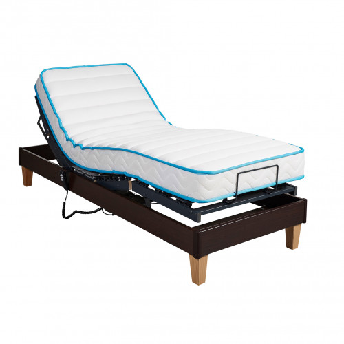 Ensemble relaxation Someo latex 50 + sommier TPR 30 wengé 80x200