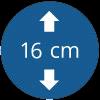 Épaisseur 16 cm