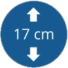 Épaisseur 17 cm