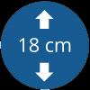 Épaisseur 18 cm