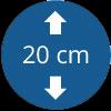 Épaisseur 20 cm