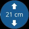 21 cm