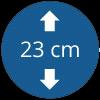 Épaisseur 23 cm