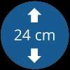 Épaisseur 24 cm