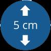 Épaisseur 5 cm