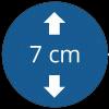 Épaisseur 7 cm