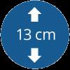 Épaisseur de 13 cm