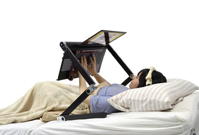 Travailler dans son lit